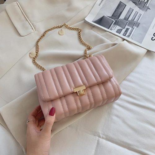 JT06247-pink Tas Clutch Selempang Import Wanita Cantik