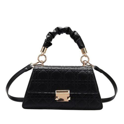 JT0680-black Tas Handbag Motif Croc Tali Selempang Wanita Cantik
