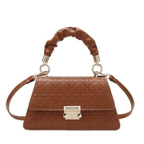 JT0680-brown Tas Handbag Motif Croc Tali Selempang Wanita Cantik