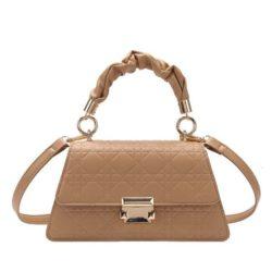 JT0680-khaki Tas Handbag Motif Croc Tali Selempang Wanita Cantik