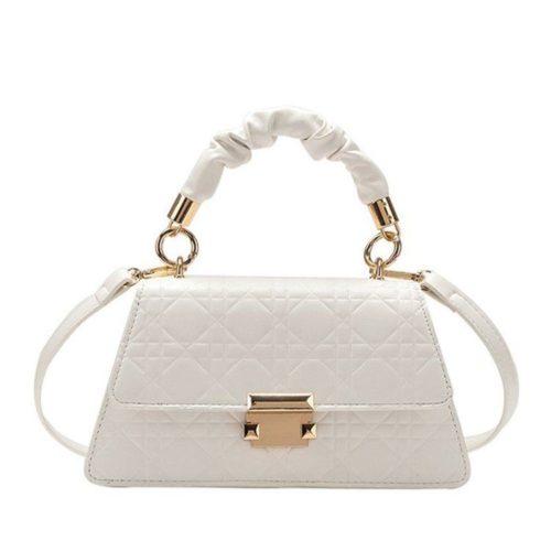 JT0680-white Tas Handbag Motif Croc Tali Selempang Wanita Cantik