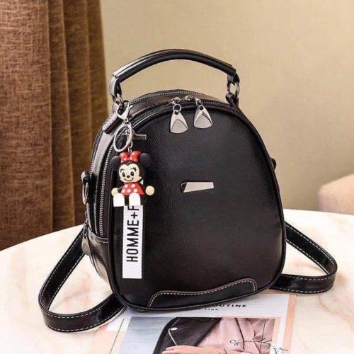 JT07002-black Tas Mini Ransel Gantungan Minnie lucu Terbaru