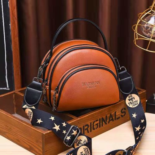 JT07003-brown Tas Selempang Cantik Stylish Terbaru