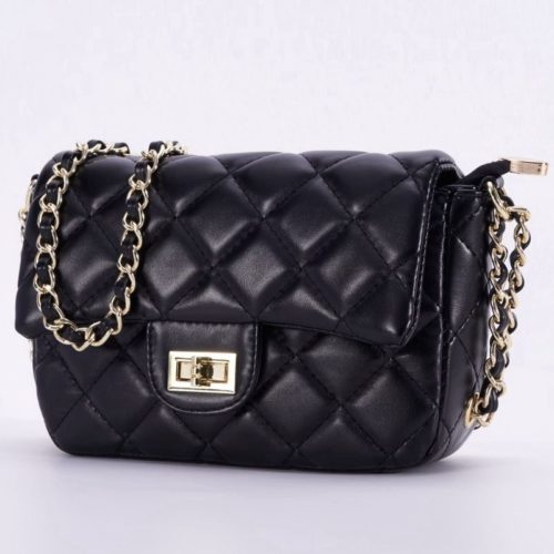 JT0705-black Tas Clutch Handbag Tali Rantai Selempang
