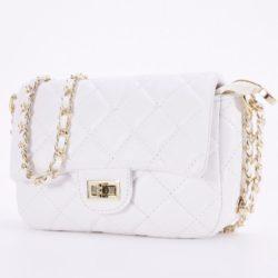 JT0705-white Tas Clutch Handbag Tali Rantai Selempang