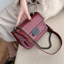 JT07150-red Tas Selempang Import Elegan Wanita Cantik