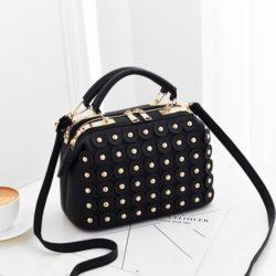 JT0789-black Doctor Bag Wanita Cantik Elegan Import