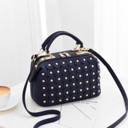 JT0789-blue Doctor Bag Wanita Cantik Elegan Import