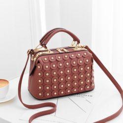 JT0789-darkpink Doctor Bag Wanita Cantik Elegan Import
