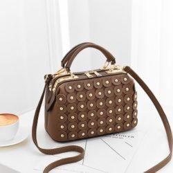 JT0789-khaki Doctor Bag Wanita Cantik Elegan Import