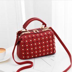 JT0789-red Doctor Bag Wanita Cantik Elegan Import