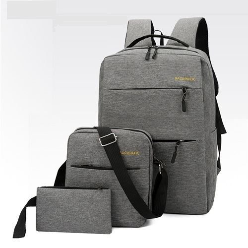 JT083 IDR.160.000 MATERIAL OXFORD SIZE L28XH45XW15CM WEIGHT 650GR (3IN1) COLOR GRAY