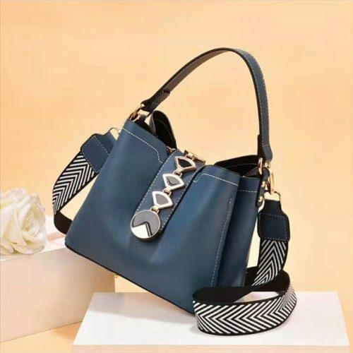 JT0880-blue Tas Handbag Selempang Wanita Modis Kekinian