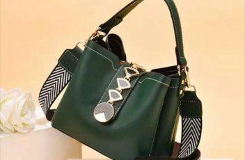 JT0880-darkgreen Tas Handbag Selempang Wanita Modis Kekinian