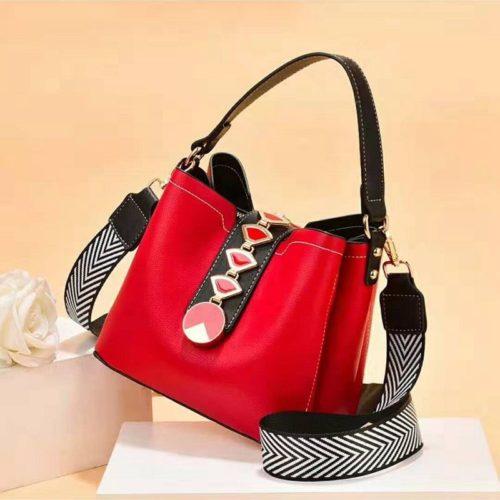 JT0880-red Tas Handbag Selempang Wanita Modis Kekinian