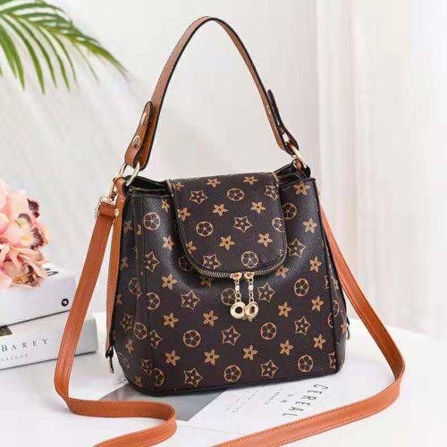 JT0906-starbrown Tas Selempang Wanita Trendy Fashion Import Terbaru