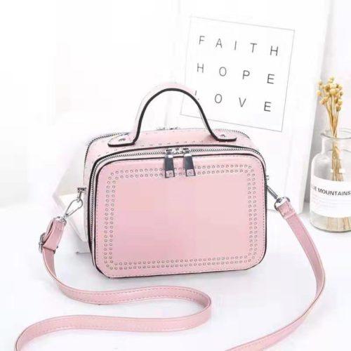 JT0926-pink Tas Selempang Wanita Modis Cantik Import