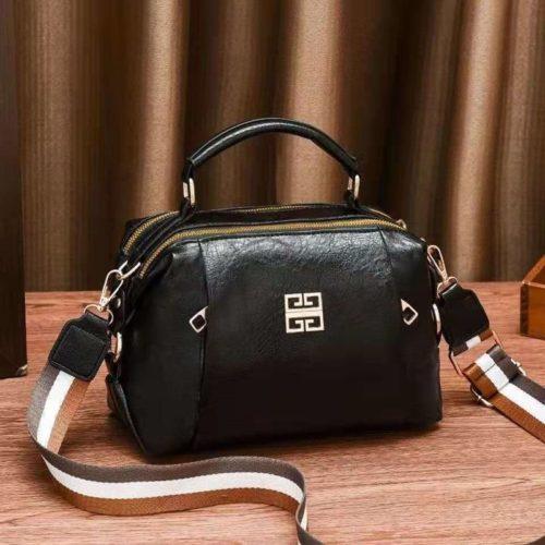 JT09318-black Tas Selempang Wanita Elegan Import