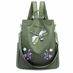 JT1000-green Tas Ransel Capung Wanita Cantik Import