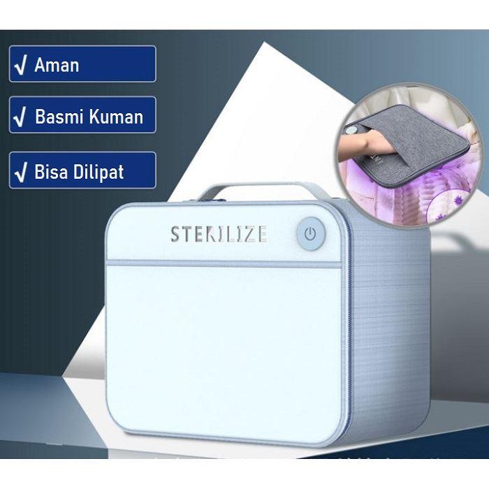 JT10002 LED STERILIZATION BAG (WITH BOX) IDR.330.000 MATERIAL MATTE-CLOTH+PVC SIZE L22XH17XW12CM WEIGHT 500GR COLOR BLUE