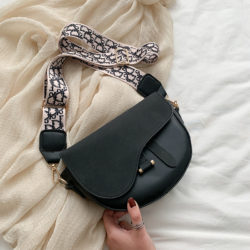 JT1004-black Tas Selempang Model Saddle Bag Kekinian Import