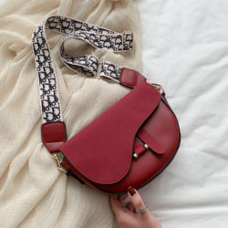 JT1004-red Tas Selempang Model Saddle Bag Kekinian Import