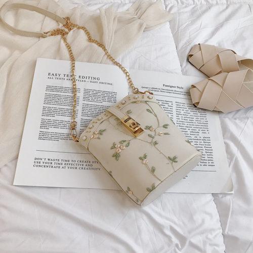 JT1007-beige Tas Slingbag Wanita Model Tabung Stylish