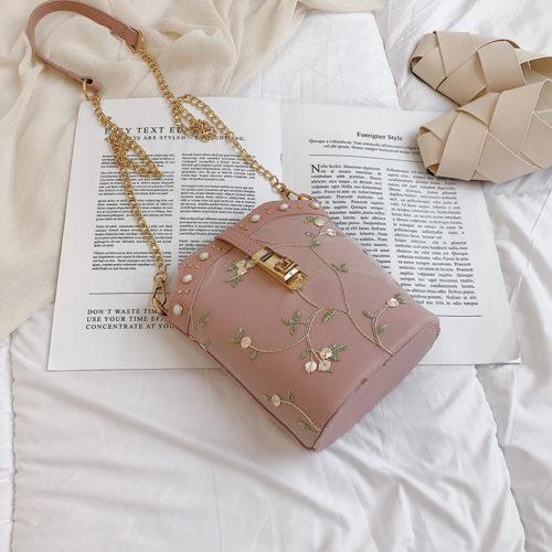 JT1007-pink Tas Slingbag Wanita Model Tabung Stylish