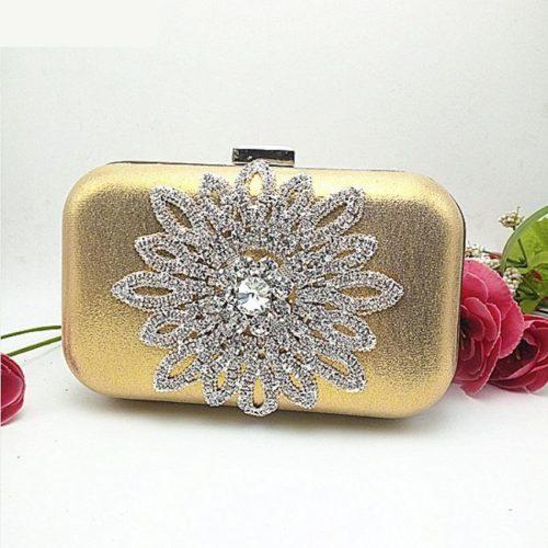 JT1008-gold Tas Pesta Wanita Cantik Elegan Import