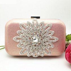 JT1008-pink Tas Pesta Wanita Cantik Elegan Import