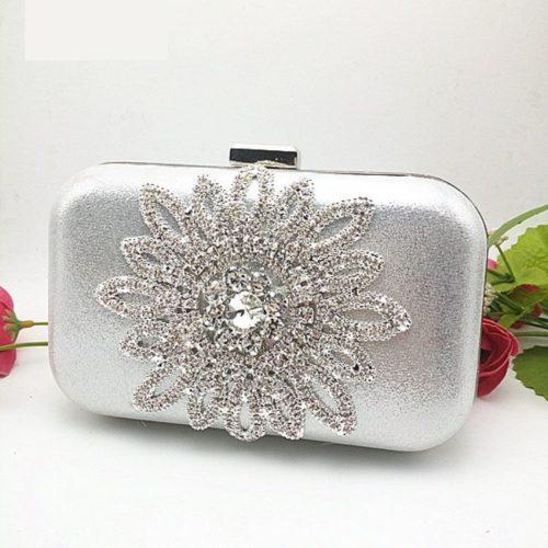 JT1008-silver Tas Pesta Wanita Cantik Elegan Import