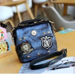 JT1012-blue Doctor Bag Magnet Selempang Elegan