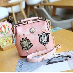 JT1012-pink Doctor Bag Magnet Selempang Elegan