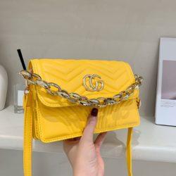 JT10120-yellow Tas Selempang Model Chain Wanita Cantik Import