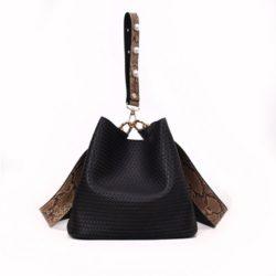 JT10146-black 2in1 Pingo Bag Tas Kekinian Import Cantik