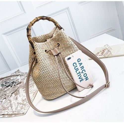 JT1017 IDR.155.000 MATERIAL STRAW SIZE L24XH25XW14CM WEIGHT 500GR COLOR KHAKI