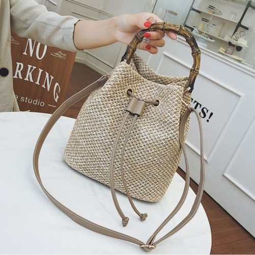 JT1017 IDR.165.000 MATERIAL STRAW SIZE L24XH25XW14CM WEIGHT 500GR COLOR KHAKI