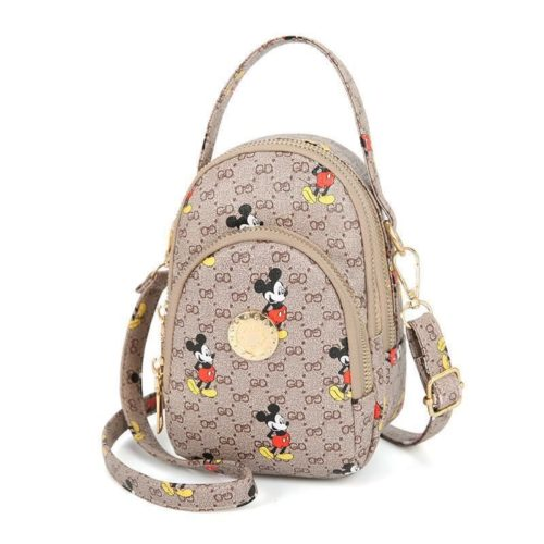 JT10339-beige Sling Bag Mickey Wanita Imut Cantik Import