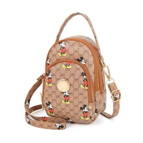 JT10339-brown Sling Bag Mickey Wanita Imut Cantik Import