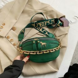 JT1034-green Waist Bag Tas Pinggang Wanita Cantik Import