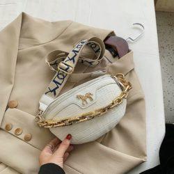 JT1034-white Waist Bag Tas Pinggang Wanita Cantik Import