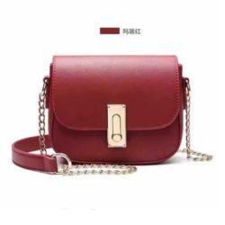 JT10471-red Tas Sling Bag Wanita Cantik Kekinian Terbaru