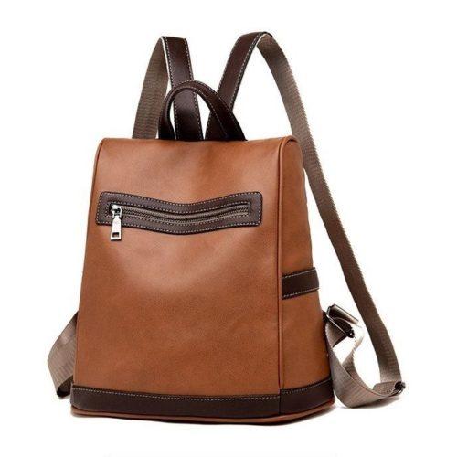 JT1051-brown Tas Ransel Wanita Stylish Kekinian Import