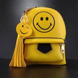 JT10541-smile Tas Ransel Emoticon Wanita Cantik Elegan Import