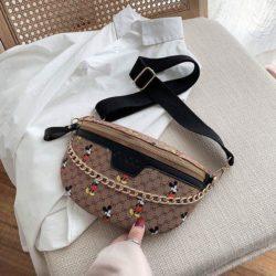 JT10636-black Waist Bag Mickey Wanita Cantik Import