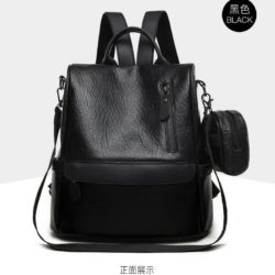 JT1065-black Tas Ransel Fashion 2in1 Cantik Terbaru