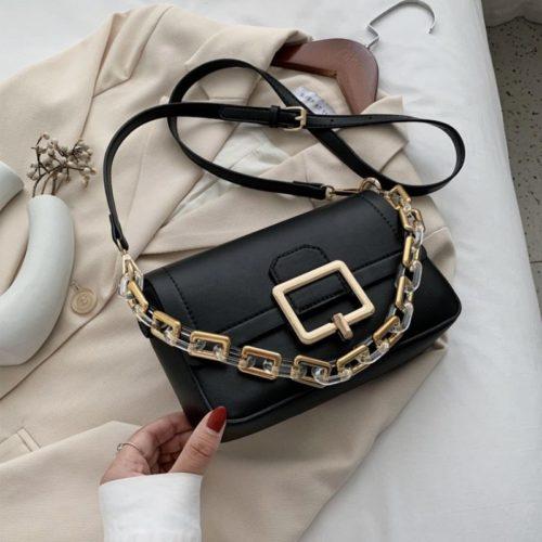 JT1066-black Tas Selempang Chain Elegan Wanita Cantik