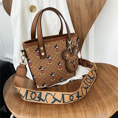 JT10945-brown Tas Handbag Mickey Wanita Cantik Import