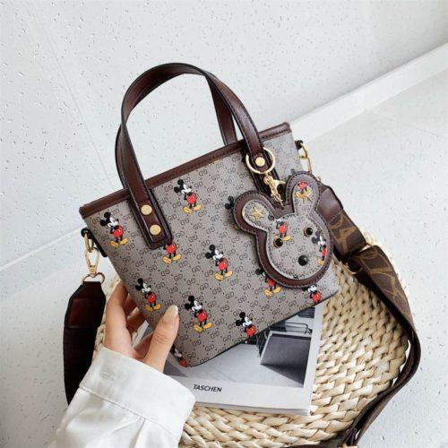 JT10945-gray Tas Handbag Mickey Wanita Cantik Import
