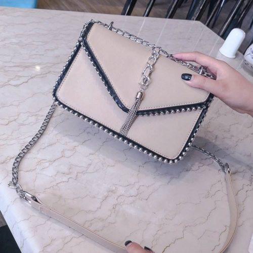 JT1095-khaki Tas Selempang Fashion Elegan Terbaru